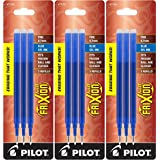 Pilot Gel Ink Refills for FriXion Erasable Gel Ink Pen, Fine Point, Blue Ink, Pack of 9 (77331)