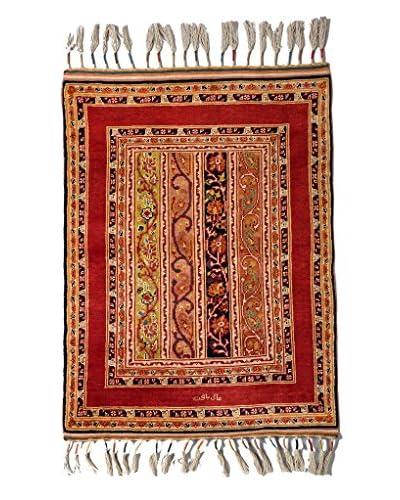 Darya Rugs Fine Kazak Oriental Rug, Red, 3' 3 x 4' 3
