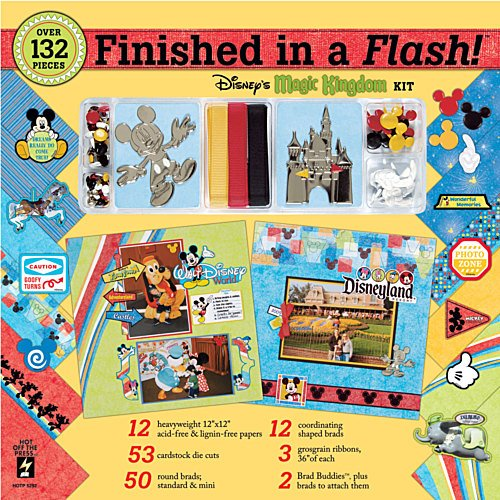 "Finished In A Flash Page Kit 12""X12""-Disney Magic Kingdom"