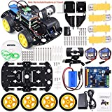 Kuman Professional WiFi Smart Robot Car kit for Raspberry Pi RC Remote Control Robotics Electronic Toys, Game Controlled by PC Android ISO App with 8G SD Card SM9
