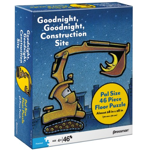 Pressman Toys Goodnight, Goodnight, Construction Site Pal Size Puzzle (46-Piece)