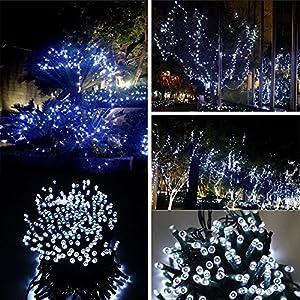 Lixada Solar-powered Waterproof LED Fairy String Lights for Christmas Decoration by Lixada