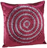 Shahenaz Home Shop Tusti Circle Flare Poly Dupion Cushion Cover - Purple and Pink