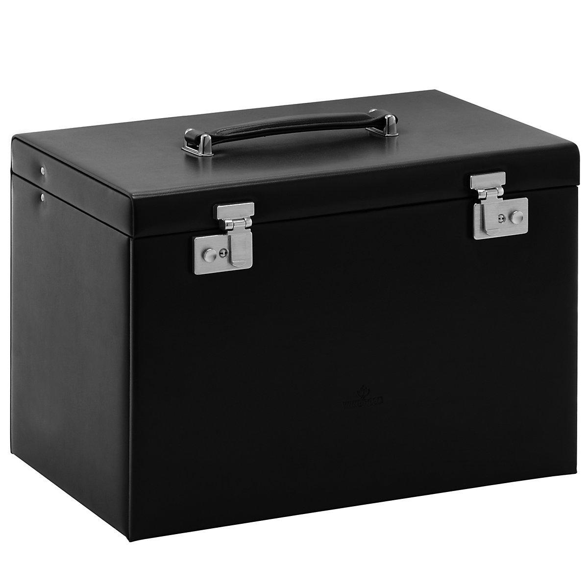 Windrose Merino Schmuckkoffer mit integrierter Schmucktasche 8 schwarz günstig bestellen