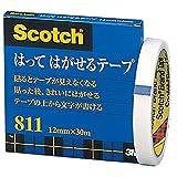 3M スコッチ はってはがせるテープ 12mm×30m 芯76mm 紙箱入り 811-3-12