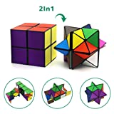 Euclidean Cube Star Cube Magic Cube Set (2 Piece), Transforming Cubes Magic Puzzle Cubes for Kids and Adults (Color: multicolored)