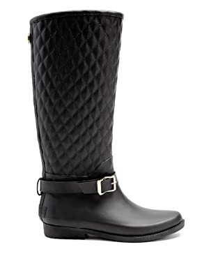 Guess Women's Lulue Rain Boot, black, 8 M US