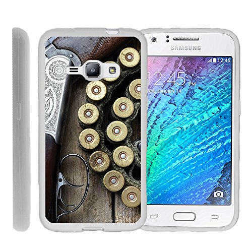 Samsung Galaxy J1 (2016) | Galaxy Amp 2| , TPU Slim Fitted Shock Light Cover with Phone Case Hunting | by Miniturtle® - Shotgun with Ammo