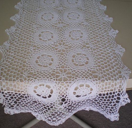 Patterns crochet round tablecloth patterns hospital bed linens