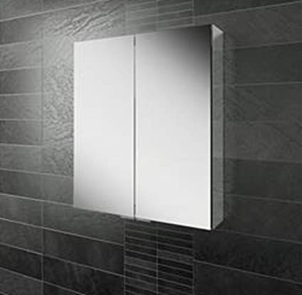Eris 60 Double Door Mirror Bathroom Cabinet With Mirrored Sizes 60 cm