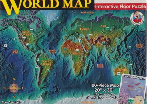World Map Interactive Floor Puzzle