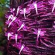 30er LED Solar Lichterkette Libelle pink Lights4fun