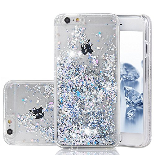 iPhone 6 Case, iPhone 6S Case, Liquid Case, Asstar Fashion Creative Design Flowing Liquid Floating Luxury Bling Glitter Sparkle Diamond Hard Case for For Iphone 6 / Iphone 6S (Silver) (Wrestling Belt Display Case compare prices)