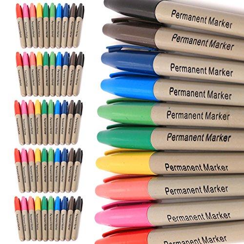 50-x-marchio-x2605-colori-assortiti-x2605-marcatore-permanente-penne-punta-fine-punta-in-feltro