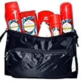 Old Spice Hawkridge Set 6 Pieces Including AS, Deotick 50ml, Deo Spray, Showergel and Cosmetic Toiletries Bag Gift Set