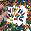 Mini Wooden Pegs - Multi Coloured 100pk