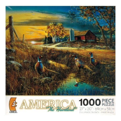 America the Heartland - 'Roadside' - 1000 Pc Puzzle by Jim Hansel - 1