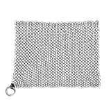 The Ringer Stainless Steel Chainmail Cast Iron Cleaner, XL 8x6-Inch