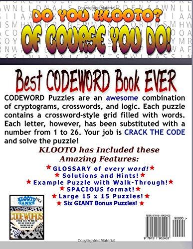 KLOOTO Games CODEWORDS: Volume I: Volume 1