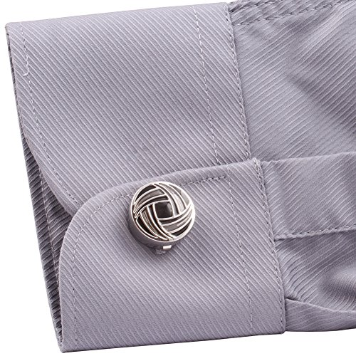 Hj men 39 s jewelry cuff link round button cover color gray for Mens dress shirt button covers