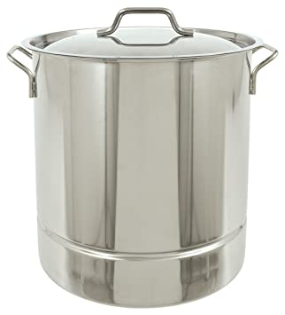 Bayou Classic 1310 Stainless Tri-Ply Stockpot with Vented Lid, 10-Gallon