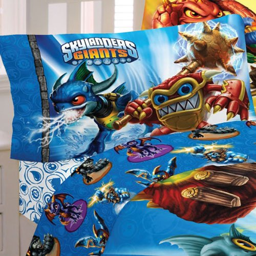 Skylanders Bed Sheet Set Spyro Sky Friends Bedding Accessories Full Mb361c MB361C