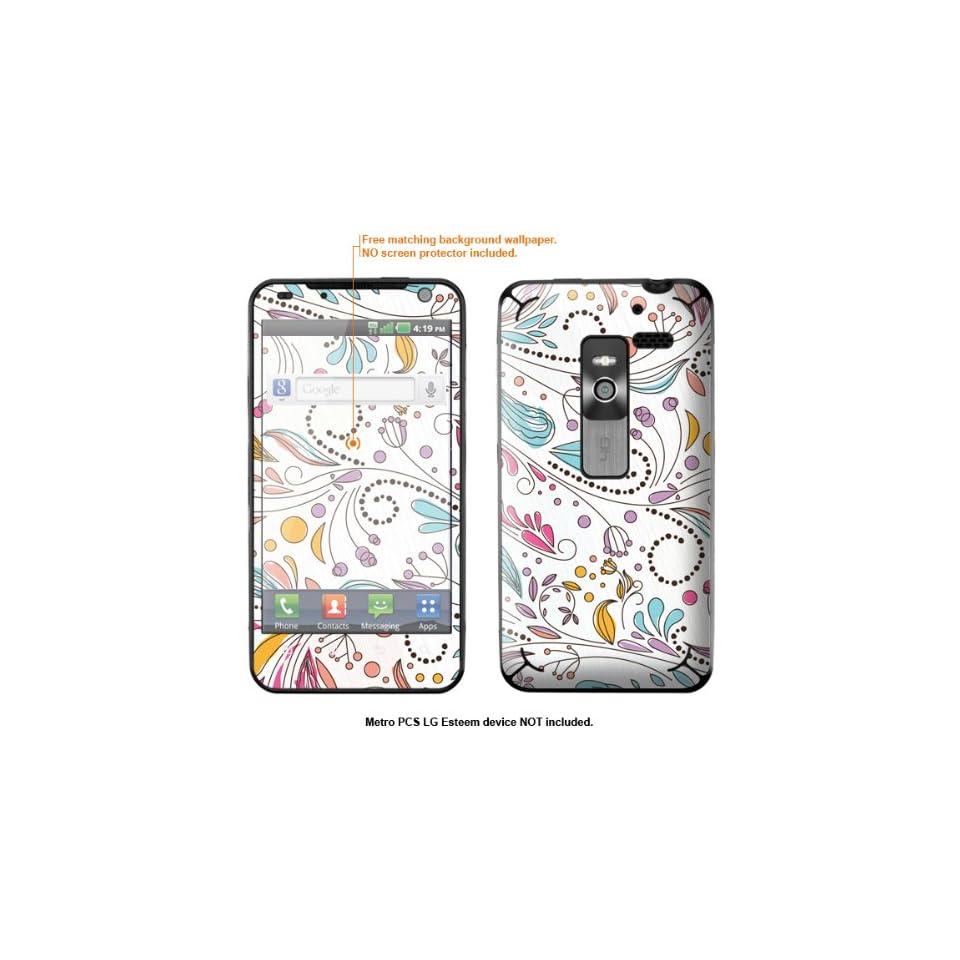 Protective Decal Skin Sticker for Metro PCS LG Esteem 4G case cover Esteem 113