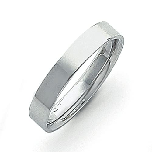 Platinum 4mm Flat Size V 1/2 Wedding Band Ring