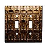 Steampunk Mailbox Vintage - Decor Double Switch Plate Cover Metal
