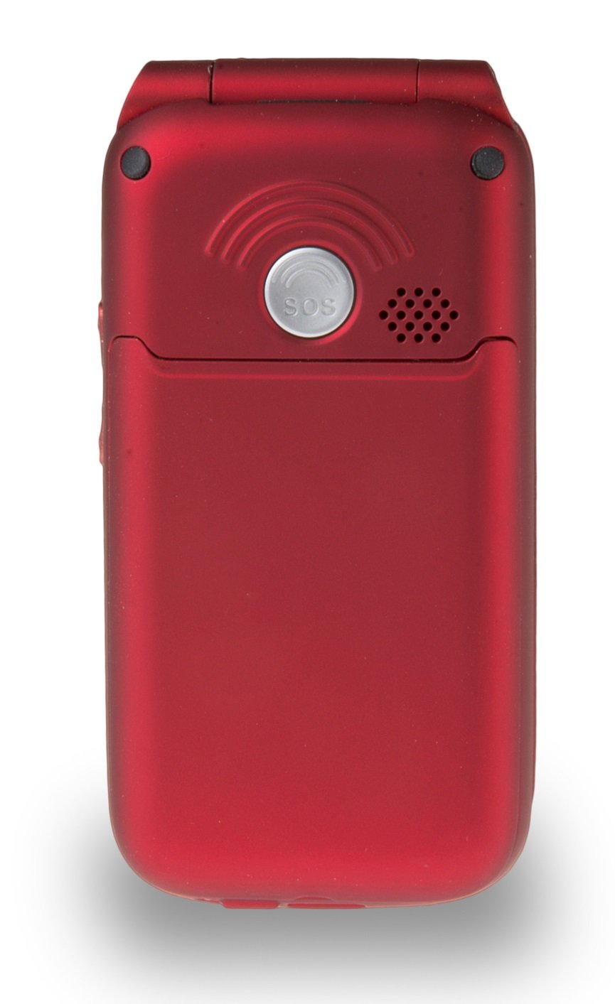 TT700 RED Big Button Flip Mobile Phone Easy to Use Simple Unlocked