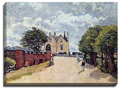 a-canvas-print-of-alfred-sisley-inn-at-east-molesey-with-hampton-court-bridge-1874-size-30-inch-x-22
