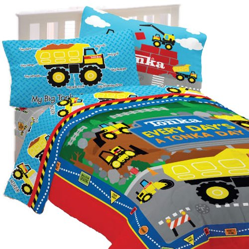 Construction toddler bedding sets under construction bedding - Dump truck twin bed ...