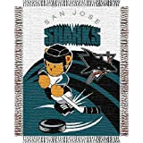 "San Jose Sharks NHL Triple Woven Jacquard Throw (044 Series) (36""X46"")"