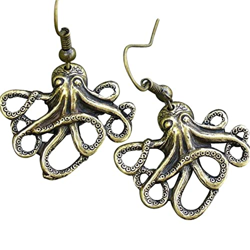 Steampunk Jewelry Kraken Earrings