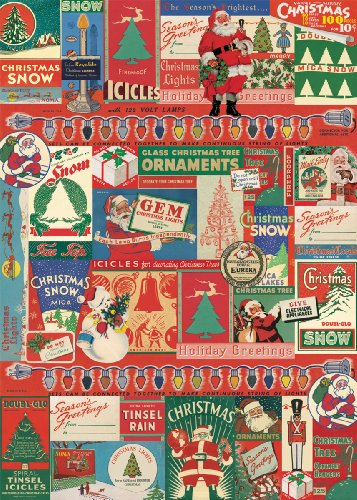 Cavallini & Co. Vintage Christmas Decorative Decoupage Poster Wrapping Paper Sheet 0