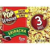 Pop Weaver Microwave Popcorn (Sriracha, 2 Boxes-6 bags popcorn)
