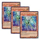 【 3枚セット 】遊戯王 英語版 WSUP-EN018 Star Seraph Scepter 光天使セプター (プリズマティックシークレットレア) 1st Edition