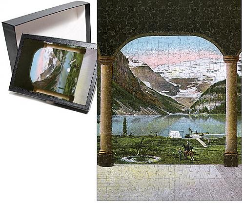 Photo Jigsaw Puzzle of View from Lake Louise Hotel near Laggan, Alberta, Canada (Hotels Near compare prices)