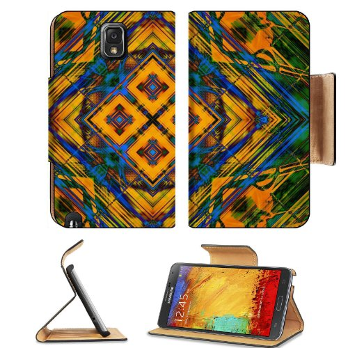 Pattern Colourful Samsung Galaxy Note 3 N9000 Flip Case Stand Magnetic Cover Open Ports Customized Made To Order Support Ready Premium Deluxe Pu Leather 5 15/16 Inch (150Mm) X 3 1/2 Inch (89Mm) X 9/16 Inch (14Mm) Liil Note Cover Professional Note 3 Cases