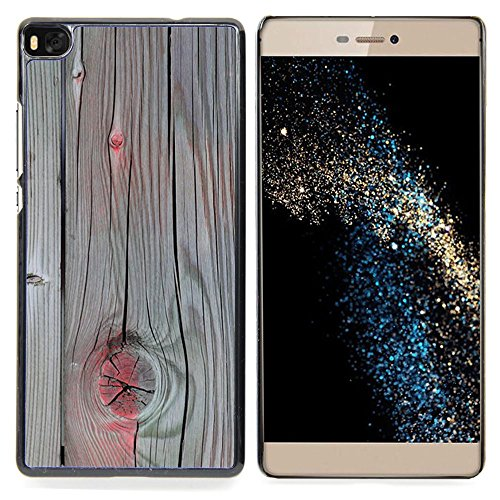 Accent Grey Wood Paint Cracked Custodia protettiva Progettato rigido in plastica King Case For HUAWEI P8