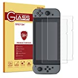 OMOTON Nintendo Switch Screen Protector [2 Pack] - Updated Version Full Coverage Tempered Glass Screen Protector for Nintendo Switch 2017 with [9H Hardness] [Premium Clarity] [Bubble Free]