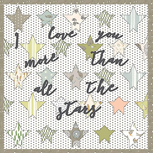 Lydia Nelson Darling Little Dickens Stars with Writing Quilt Kit Moda Fabrics KIT49000 (Bitty Baby Sewing Patterns compare prices)