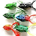 MR.Jiang 1 pcs new hot soft frog lure bait crank bait crankbait fishing tackle hook 5.5cm Random Color