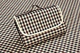FiveJoy® Picnic Blanket (Ivory Plaid) - Folds Out To 57