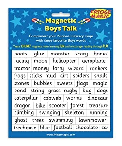 Magnetic Boys Talk Words to complement National Literacy Words