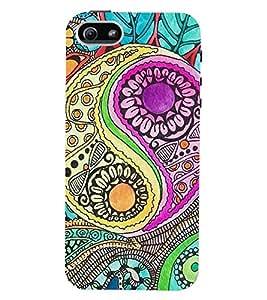 Printvisa Premium Back Cover Multicoloured Pattern Design For Apple iPhone 4::Apple iPhone 4S