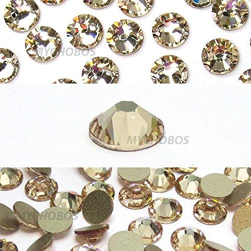 LIGHT SILK (261) beige Swarovski NEW 2088 XIRIUS Rose 34ss 7mm flatback No-Hotfix rhinestones ss34 18 pcs (1/8 gross) *FREE Shipping from Mychobos (Crystal-Wholesale)*