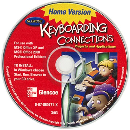 Glencoe Keyboarding Connections: Projects and Applications Home Version CD-Rom (Johnson: Gregg Micro Keyboard)