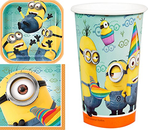 1 X Despicable Me 2 Party Supplies Pack Including Plates, Cups and Napkins - 8 Guests