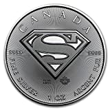 カナダ スーパーマン Superman™ メイプルリーフ 5ドル シルバー コイン 1オンス 31.1グラム 純銀 銀貨 2016年製造 純銀 インゴット 高級アクリルカプセル・クリアーケース付き